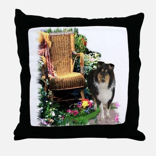 Tri-Color Collie Throw Pillow