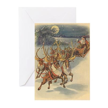Vintage Christmas Santa Claus Greeting Cards (Pk o