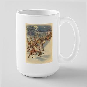 Vintage Christmas Santa Claus Large Mug