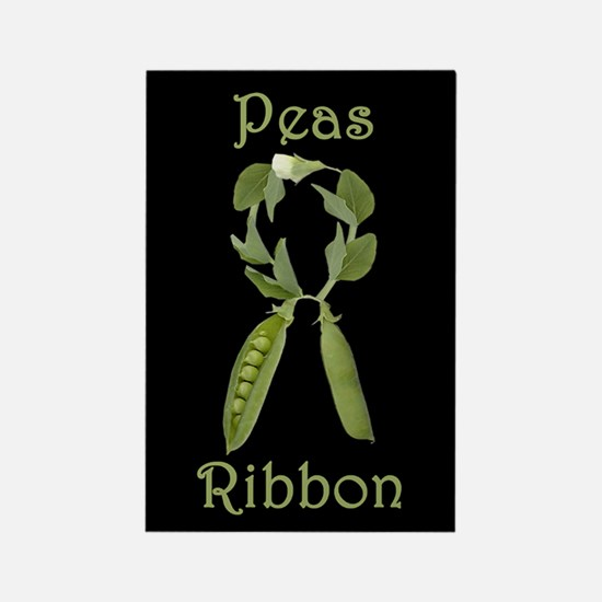SUPPORT PEAS RIBBON Rectangle Magnet