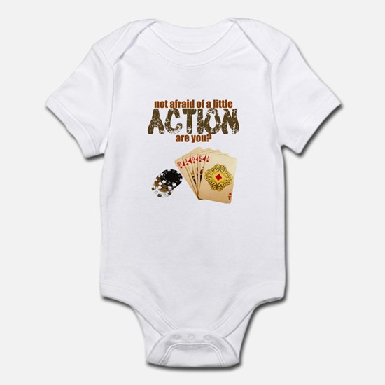 """Afraid of Action"" Infant Bodysuit"