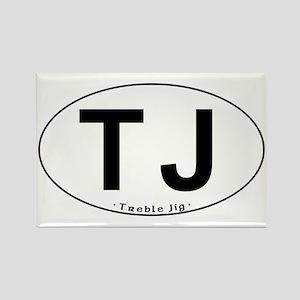 TJ Oval - Rectangle Magnet