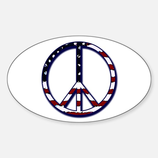 American Peace Oval Decal