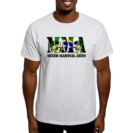 MMA Brazil Flag & Skulls Light T-Shirt
