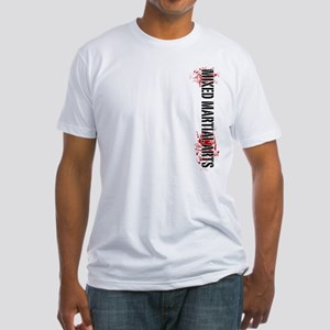 MMA Mixed Martial Arts Vertic Fitted T-Shirt