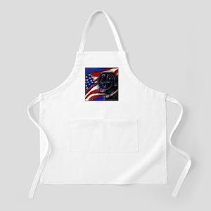 Black Labrador American Flag BBQ Apron