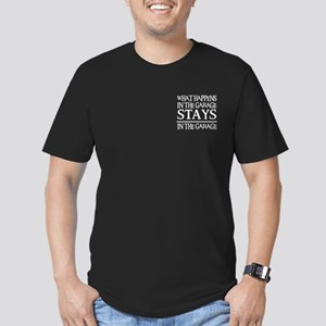 STAY IN THE GARAGE Men's Fitted T-Shirt (dark)