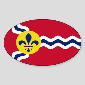 St. Louis Flag Oval Sticker