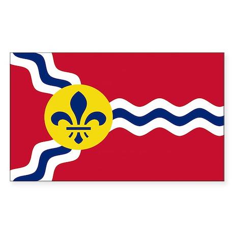 St. Louis Flag Rectangle Sticker