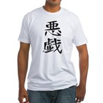 trick - Kanji Symbol Fitted T-Shirt