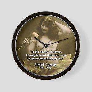 Literature Sex and Camus Wall Clock