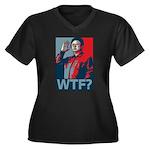 Kim Jong Il: WTF? Women's Plus Size V-Neck Dark T-