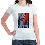 Kim Jong Il: WTF? Jr. Ringer T-Shirt