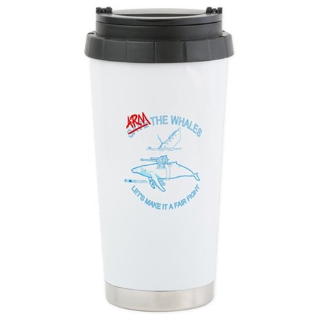 Arm the Whales Stainless Steel Travel Mug
