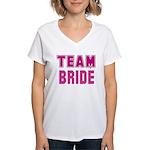 Team Bride Women's V-Neck T-Shirt