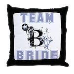 Celebrate Team Bride Throw Pillow