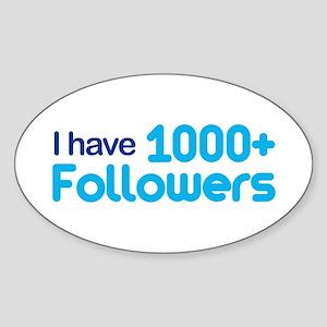 1000+ Followers Oval Sticker