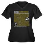 Skepticism Women's Plus Size V-Neck Dark T-Shirt