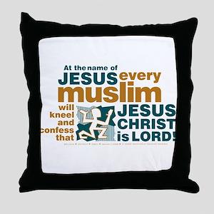 Every muslim will kneel. Throw Pillow