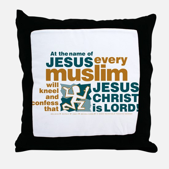 Every muslim will kneel. Throw Pillow