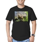 Galapagos Islands Turtle Men's Fitted T-Shirt (dar
