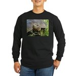 Galapagos Islands Turtle Long Sleeve Dark T-Shirt