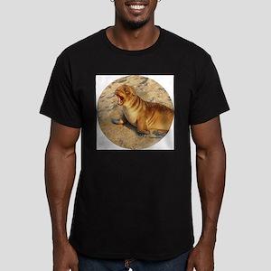 Baby Sea Lion Men's Fitted T-Shirt (dark)
