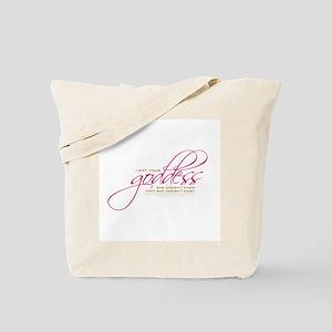 """I pity your """"goddess"""". Tote Bag"""