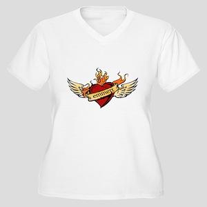 Emmett Women's Plus Size V-Neck T-Shirt