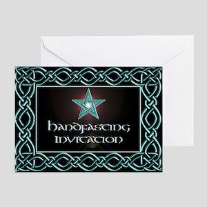 Black Floral Wedding Set Greeting Card