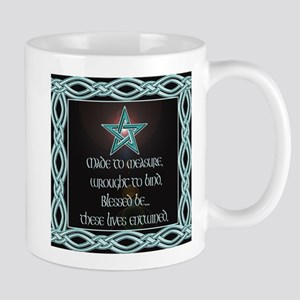 Black Floral Wedding Set Mug