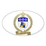 VOUTOUR Family Crest Oval Sticker (50 pk)