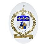 VOUTOUR Family Crest Oval Ornament