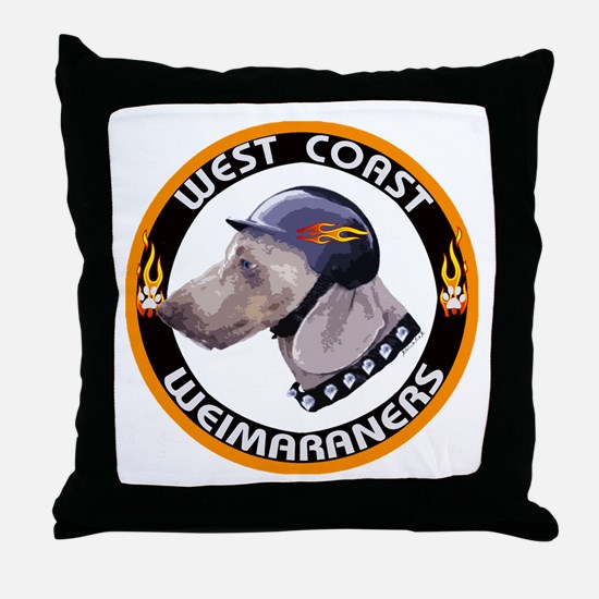 West Coast Weims Throw Pillow