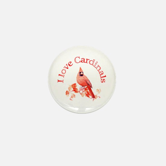 Cardinal Mini Button
