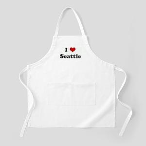 I Love Seattle BBQ Apron