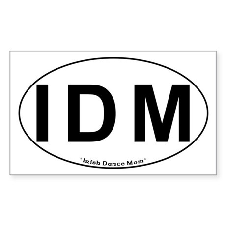 IDM Oval - Rectangle Sticker