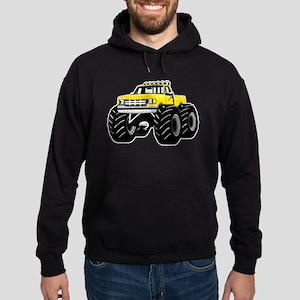 Yellow MONSTER Truck Hoodie (dark)