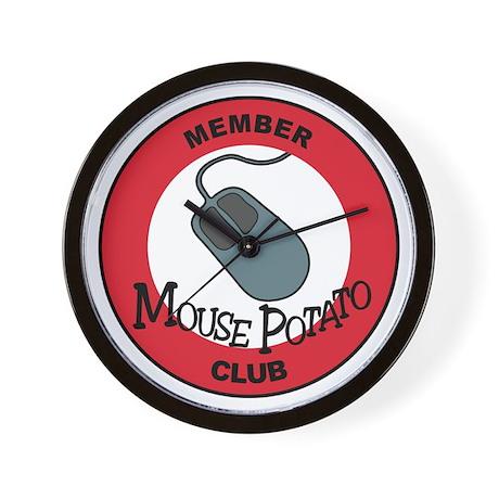 Mouse Potato Club Wall Clock