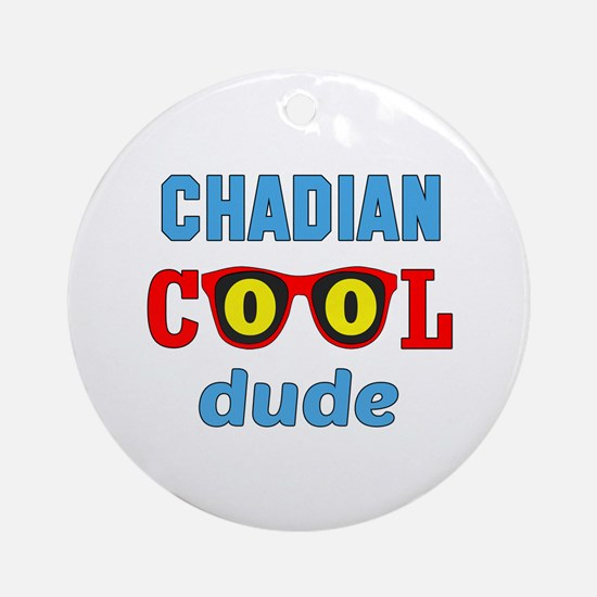 Chadian Cool Dude Round Ornament