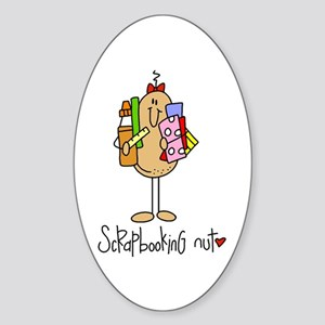 Scrapbooking Nut Oval Sticker