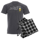 Beer-volution (esp) Men's Charcoal Pajamas