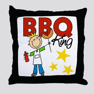 Barbecue King Throw Pillow
