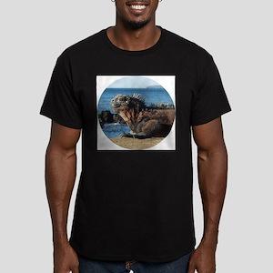 Galapagos Islands Iguana Men's Fitted T-Shirt (dar