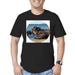 Galapagos Islands Iguana Men's Fitted T-Shirt (dar