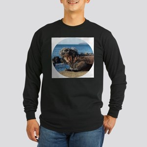 Galapagos Islands Iguana Long Sleeve Dark T-Shirt