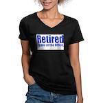 Retirement Women's V-Neck Dark T-Shirt