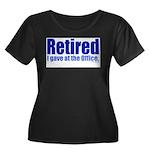 Retirement Women's Plus Size Scoop Neck Dark T-Shi