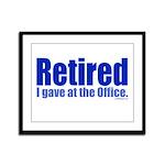 Retirement Framed Panel Print