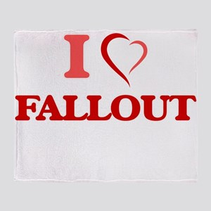 I love Fallout Throw Blanket